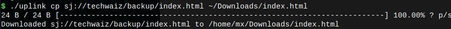uplink download command